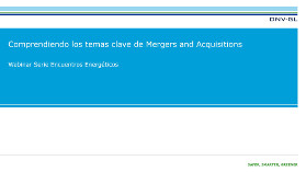 Comprendiendo los temas clave de mergers and acquisitions webinar